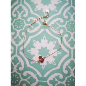 Ασημενια βραχιολια - Ανανάς Ροζ Χρυσό Βραχιόλια