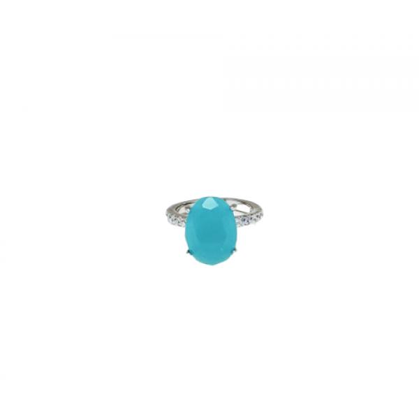Ασημενια δαχτυλιδια - Δαχτυλίδι Μονόπετρο-Πέτρα Τυρκουάζ ( ή Τουρκουάζ ) Δαχτυλίδια