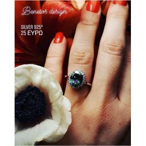 Ασημενια δαχτυλιδια - Μονόπετρο ΡοζέταSILVER925 Δαχτυλίδια
