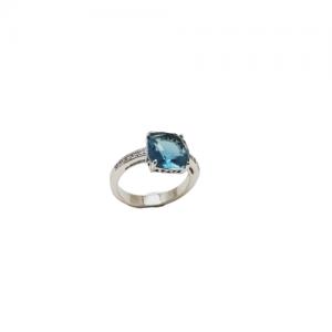 Ασημενια δαχτυλιδια - ΡοζέταSILVER925bluetopaz  Δαχτυλίδια
